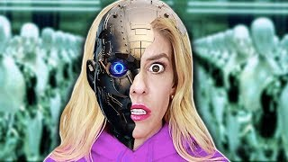 Download REBECCA ZAMOLO is a ROBOT in REAL Life! (DNA Quadrant Date Reveal from Game Master Ai Escape Room) Video