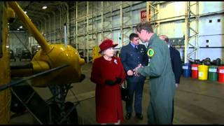 Download Prince William shows Queen Elizabeth II an RAF Search and Rescue helicopter Video