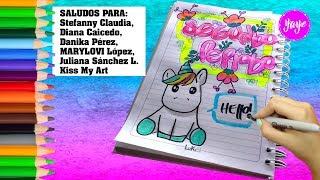 Download IDEAS PARA DIBUJAR SEGUNDO PERIODO-Marcando cuadernos con letra Timoteo-Dibujos para niños-Yaye Video
