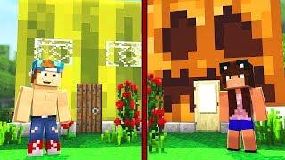 Download WATERMELON HOUSE VS PUMPKIN HOUSE | Minecraft House Challenge Video