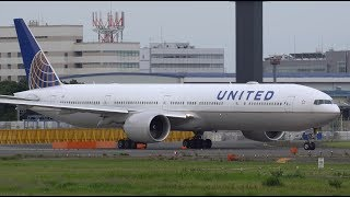 Download United Airlines Boeing 777-300ER N2332U Landing and Takeoff [NRT/RJAA] Video