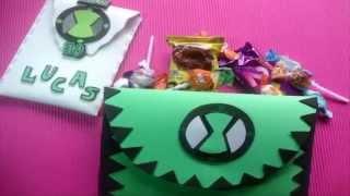 Download Ben 10-cartuchera con golosinas para cumpleaños Video