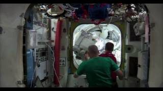 Download EVA 38 Spacewalkers Peggy Whitson & Shane Kimbrough Re-Enter the Space Station Video