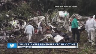 Download Local soccer players in disbelief following Colombia plane crash Video
