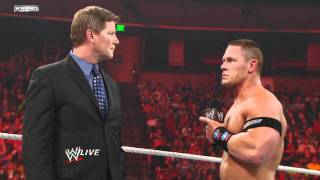 Download Raw - John Cena chooses The Rock as his tag team partner Video