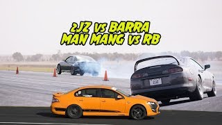 Download 2JZ vs RB vs BARRA - Which is the best 6cylinder 2WD ? Drag Battle 2018 Video