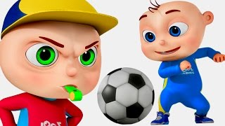 Download Zool Babies Playing Soccer | Five Little Babies Series | Cartoon Animation For Children Video