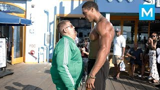 Download Fat Man VS Bodybuilders (Epic Prank) | Muscle Madness Video