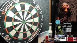 Download Rattlesnake vs ezgame -WDA Darts (best of 19 301!) Video