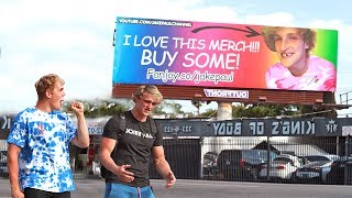 Download EMBARRASSING BILLBOARD PRANK ON MY BROTHER (HE FREAKED) Video
