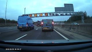 Download New HADECS 3 variable speed camera on M25 flashes multiple vehicles on M25 clockwise Video