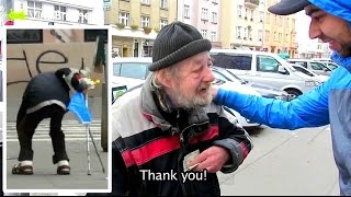 Download Homeless Gets $1000 For His Honesty (Wallet Theft Experiment) Video