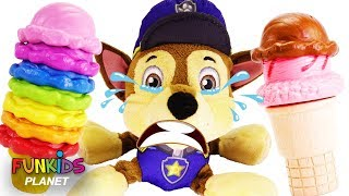 Download Paw Patrol Skye & Chase with Mickey Mouse Magic Ice Cream Transform Fun Toys | Learn Colors Video