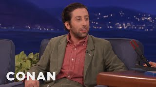 Download Simon Helberg On Hugh Grant's ″Panic Sack″ - CONAN on TBS Video