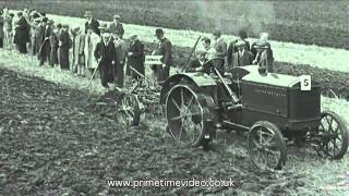 Download Tractor Trials archive video from the 1930s - old film of working machines Video