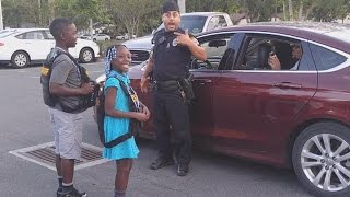 Download 9-Year-Old Girl Who Cried About Police Shootings Gets To 'Arrest' Officers Video