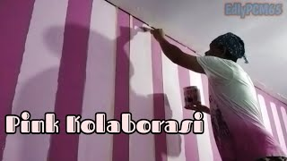 Download Cat Kolaborasi Pink Motif Video