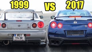 Download Nissan GTR 2017 vs Nissan Skyline GTR R34 - Accelerations & Exhaust Sound! Video