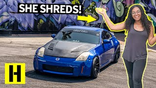 Download She shreds! Bri Lynch's 1JZ Swapped Nissan 350z! Video
