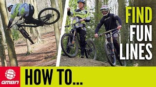 Download Find The Most Fun Line While Mountain Biking | GMBN How To Video