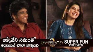 Download Akkineni Nagarjuna and Akkineni Samantha Super Fun Interview About Raju Gari Gadhi 2 | TFPC Video