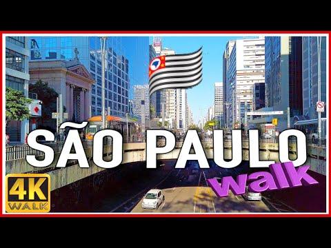 【4K】WALK SAO PAULO BRAZIL 4k video SLOW TV travel vlog Brasil