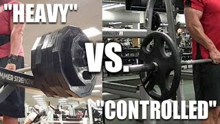 Download Heavy ″Ego Lifting″ Vs. Slow/Controlled: Which Is Better? Video