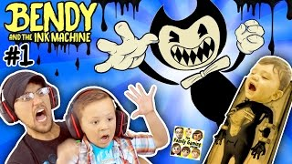 Download EVIL MICKEY MOUSE!??! BENDY & THE INK MACHINE: Chapter 1 😱 FGTEEV 2 Scary Kids Gameplay Jump Scares Video