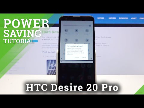 How to Extend Battery Life Time in HTC Desire 20 Pro – Activate Power Saving Mode