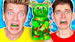 Download Mixing Every Sour Candy! *WORLDS SOUREST GIANT GUMMY* Learn How To Make DIY Food Prank Challenge Video