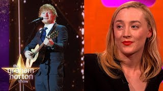 Download Ed Sheeran Tattooed Saoirse Ronan's Handwriting Onto Himself! | The Graham Norton Show Video