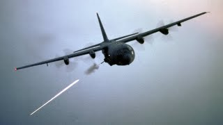 Download ″Angel of Death″ AC-130 Gunship in Action / Firing All Its Cannons - Live Fire Range Video