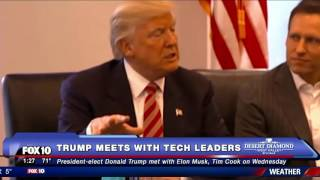 Download MUST WATCH: Donald Trump Meets with Tech Leaders (FNN) Video