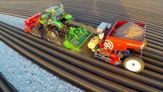 Download Potato Planting | Deutz-Fahr Agrotron 7250 TTV on Row-Crop Tracks + Dewulf Miedema belt planter Video