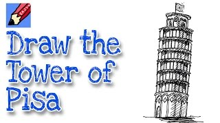 Download How to draw the Leaning Tower of Pisa Video