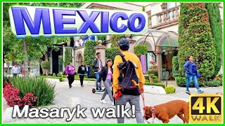 Download 4K WALK LUXURY lifestyle in MEXICO CITY Masaryk CDMX slow tv Video