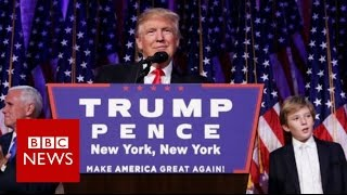 Download Donald Trump: 'I will be president for all Americans' BBC News Video