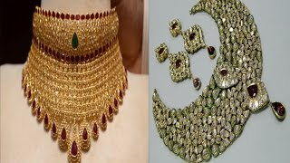 Download Rajputs Traditional Designs Bridal Kundan and Gold Necklace Set Video
