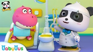 Download Baby Panda Dentist | Doctor Pretend Play | Doctor Song | Kids Good Habits | Baby Song | BabyBus Video