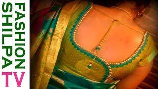 Download how to make designer blouse at home-71||Designer Bridal Back Neck Blouse Pattern cutting & stitching Video
