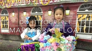 Download DIY: How To Make a Kid Mardi Gras Float for School Project Mardi Gras Parade Video