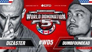 Download KOTD - Rap Battle - Dizaster vs Dumbfoundead | #WD5 Video