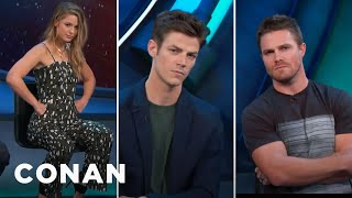Download The CW Heroes Give Their Best ″CW Smolder″ Look - CONAN on TBS Video