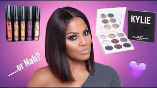 Download Kylie Cosmetics Purple Palette & Fall Lip Kits Review | Makeupshayla Video