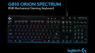 Download Logitech Gaming Software & The G810 Orion Spectrum from Logitech G [US] Video