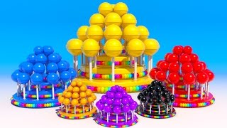 Download Learning Colors with NEW 3D Lollipops cakes for Kids and Children Toddlers video Video