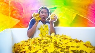 Download GIANT NACHO BATH TUB CHALLENGE Video