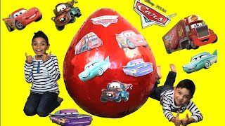 Download Disney Pixar Cars Giant Red Surprise Egg Video by Hitzh Toys Video
