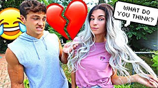 Download DYING MY HAIR To See How My Boyfriend Will React Video