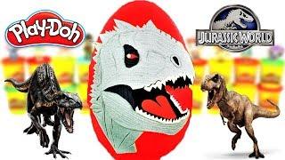 Download Huevo Sorpresa Gigante de Indominus Rex de Jurassic World 2 Plastilina Play doh Español Video